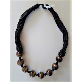 Collier Bohême perles terre cuite et émail