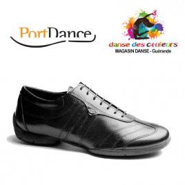 Chaussures de Danse PIETROSTREET Homme cuir noir- PORTDANCE