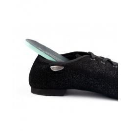 Chaussures de Danse unisexe PDJ001 NOIR nubuck et semelle daim- PORTDANCE