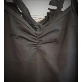 Justaucorps basique coton dos croisé Noir Enfant
