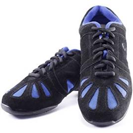 Baskets Sneakers fitness danse DYNAMO bleu-SANSHA