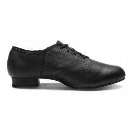 Chaussure basse bi-semelle à lacets cuir-SANSHA