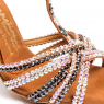 Chaussures latines STrass tan Satin BIANCA-IDS