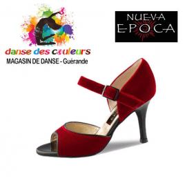 Chaussures de TANGO Romy Velours rouge - NUEVA EPOCA