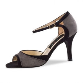 Chaussures danse latine Nubuck lanières croisées TESSA - NUEVA EPOCA