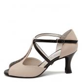 Chaussures de danse perle nude AMY pour pieds étroits-WERNER KERN