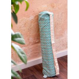 HOUSSE pour tapis de yoga motifs bleus - BAYA