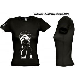 Tee shirt  coton jersey FEMME Personnalisé  femme Afro chic