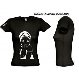 Tee Shirt GRIS JERSEY FEMME Personnalisé MODE AFRO CHIC