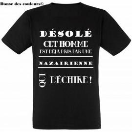 TEE SHIRT Homme Coton noir ST NAZAIRE