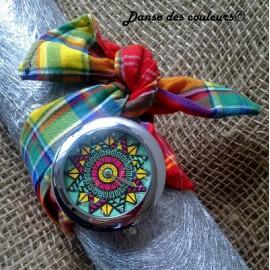 Montre bracelet tissu à nouer: