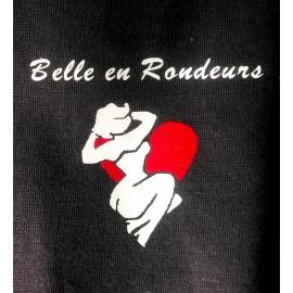 TEE SHIRT Coton PERSONNALISE Belle en Rondeurs