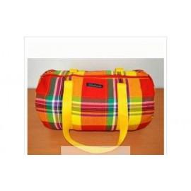SAC ROND Ethnique : MIXTE rouge jaune madras
