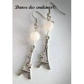 Boucles PARIS CHIC argent: ivoire