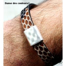 BRACELET MIXTE pour Homme ou Femme: perles bois pierres