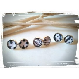 Boucles cabochon ROYAL