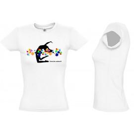 Tee Shirt Coton FEMME DANSE DES COULEURS