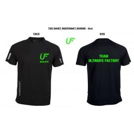 Tee shirt RESPIRANT HOMME Noir : TEAM ULTIMATE FACTORY