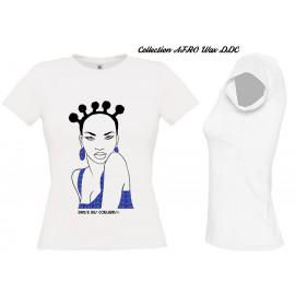 Tee Shirt Coton GRIS/NOIR FEMME 'C LA WAX'