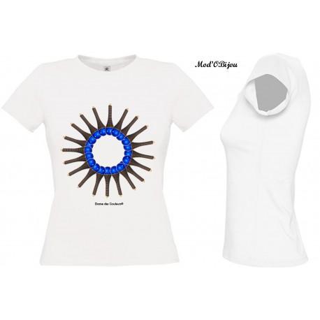 Tee Shirt BLANC FEMME Personnalisé: Femmes Africaines