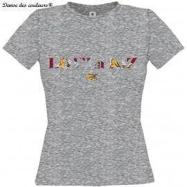 TEE SHIRT PERSONNALISE: LOVE la KIZ Danse des couleurs