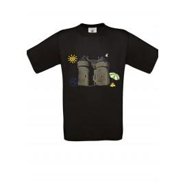Tee Shirt NOIR : Cité médiévale fantôme