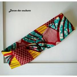 HEADBAND bandeau en tissu Wax