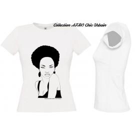 Tee Shirt Femme Africaine Naturelle nappy