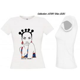 Tee Shirt Femme Africaine TURBANISTA gris