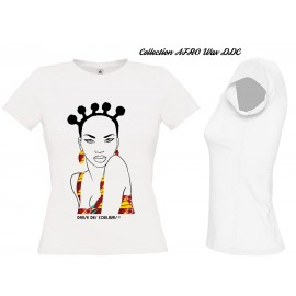Tee Shirt Femme AFRO CHIC WAX Sunny