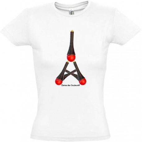 Tee Shirt Femme MODE AU BIJOU 'blue tower'